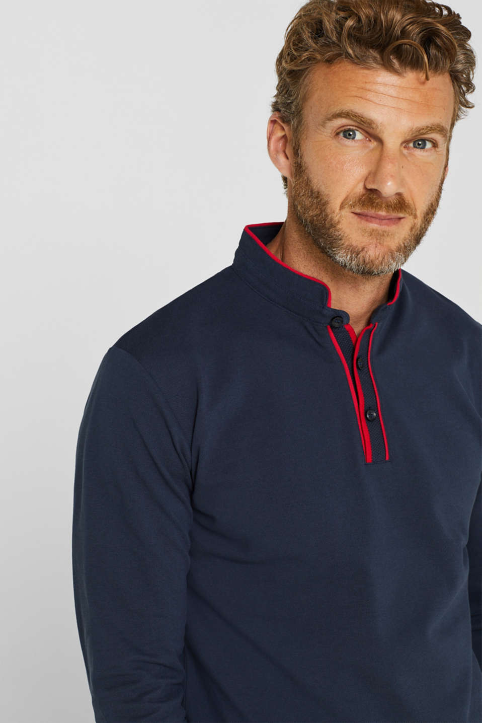 Piqué polo shirt in 100% cotton, NAVY, detail image number 5