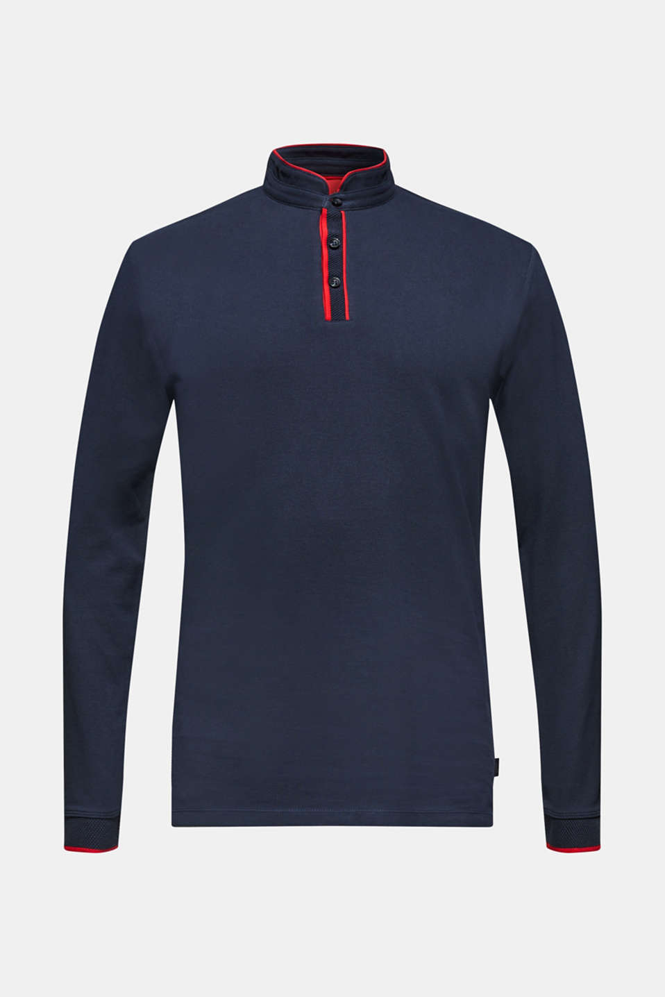 Piqué polo shirt in 100% cotton, NAVY, detail image number 7