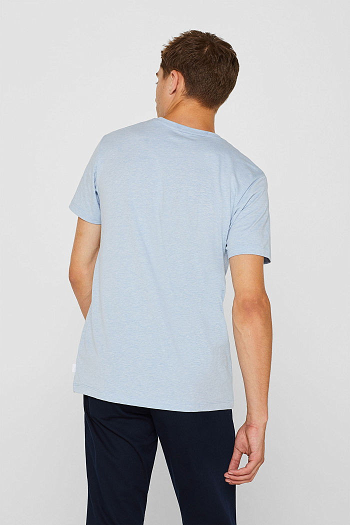 Jersey T-shirt with logo, made of blended cotton, LIGHT BLUE, detail image number 3