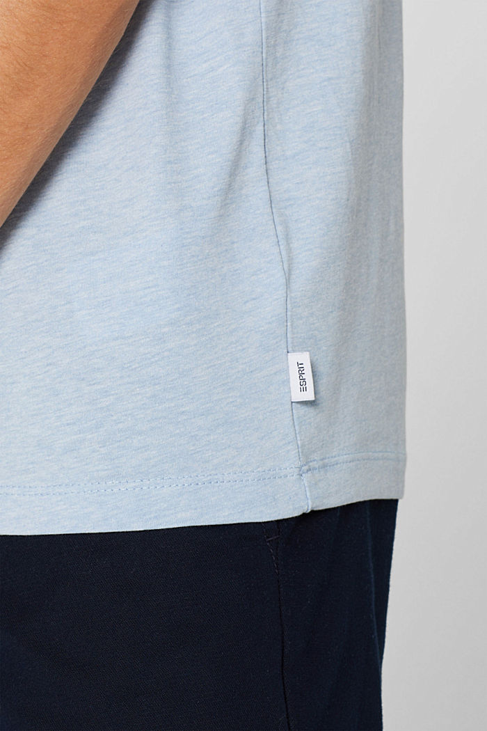 Jersey T-shirt with logo, made of blended cotton, LIGHT BLUE, detail image number 1