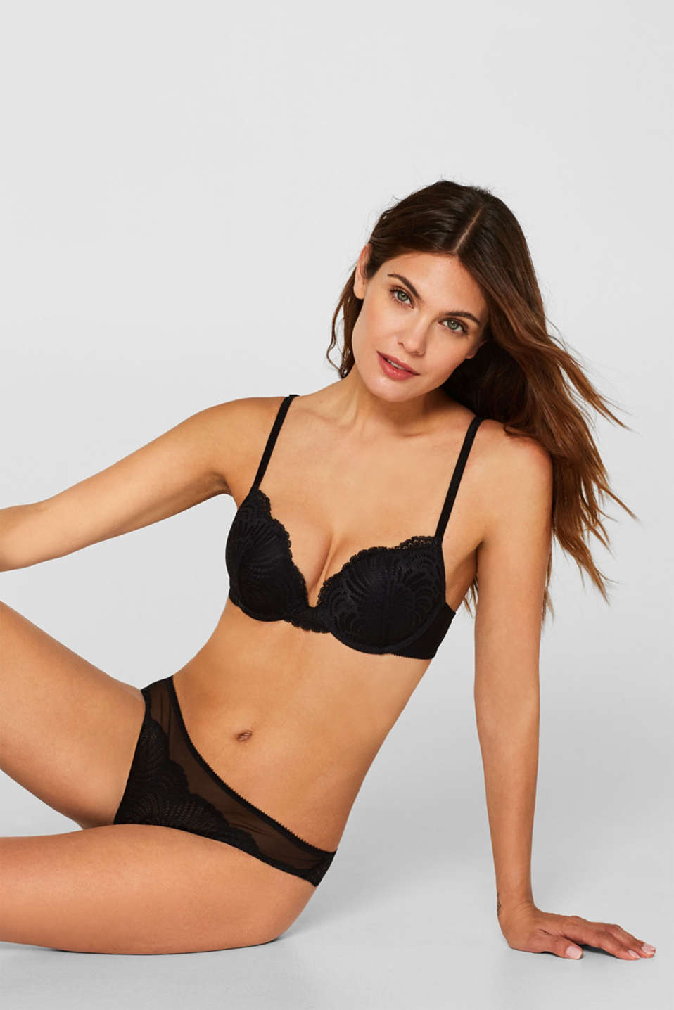 Esprit - Sujetador push up de encaje decorativo