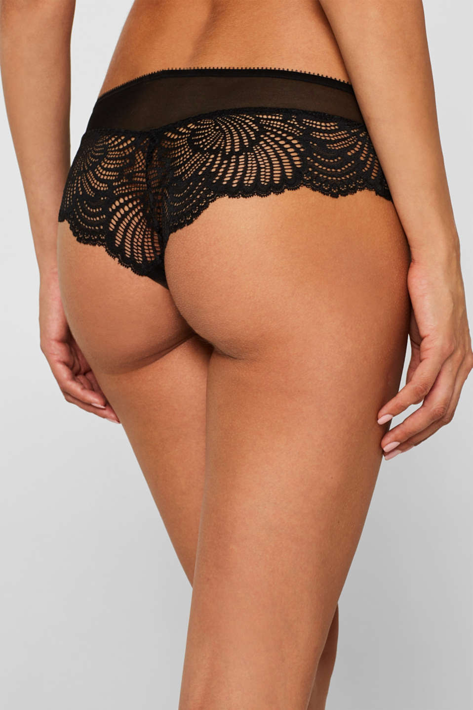 Hipster shorts in decorative lace, BLACK, detail image number 2