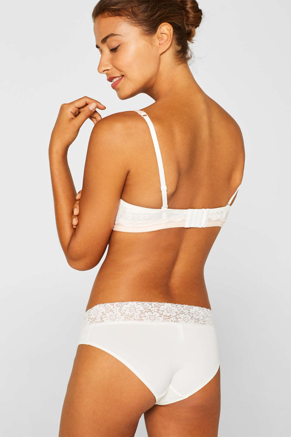 Hipster shorts with lace ribbon, OFF WHITE, detail image number 2