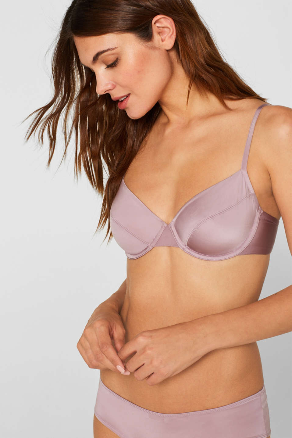 Esprit - Unpadded underwire bra in a clean, basic look