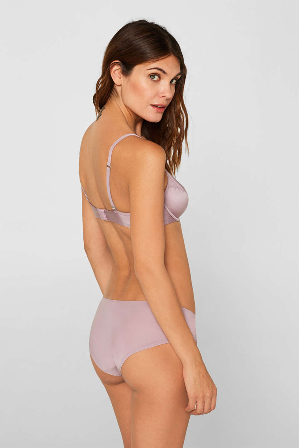 Bras with wire, MAUVE, detail image number 1