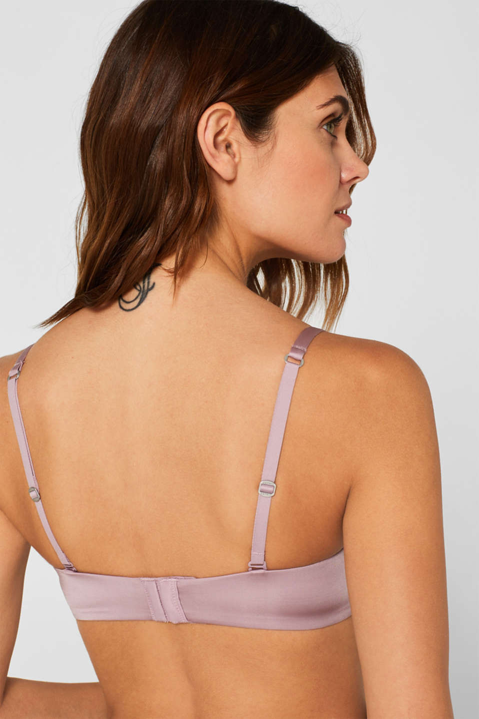 Padded underwire bra with detachable straps, MAUVE, detail image number 4