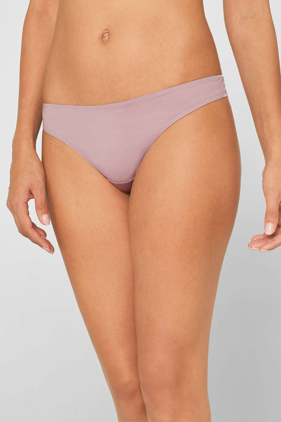 Hipster thong in a basic design, MAUVE, detail image number 1