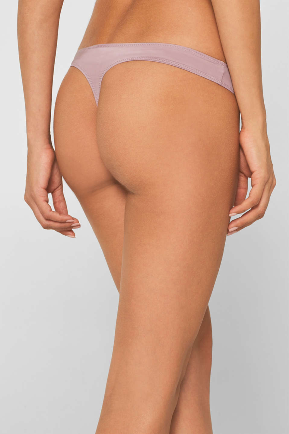 Hipster thong in a basic design, MAUVE, detail image number 3