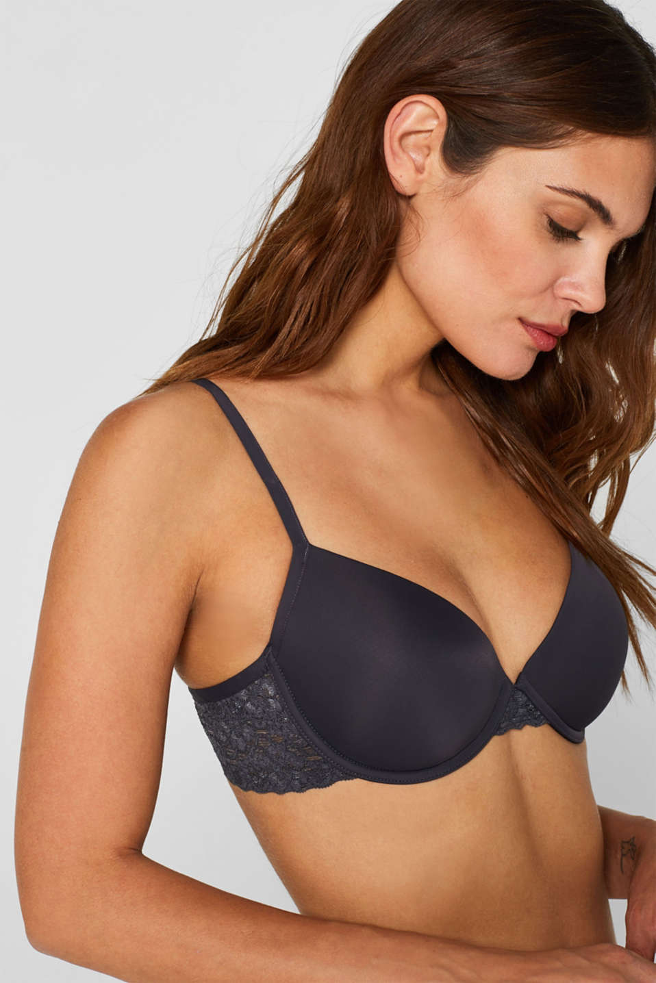 Bras with wire, ANTHRACITE, detail image number 3