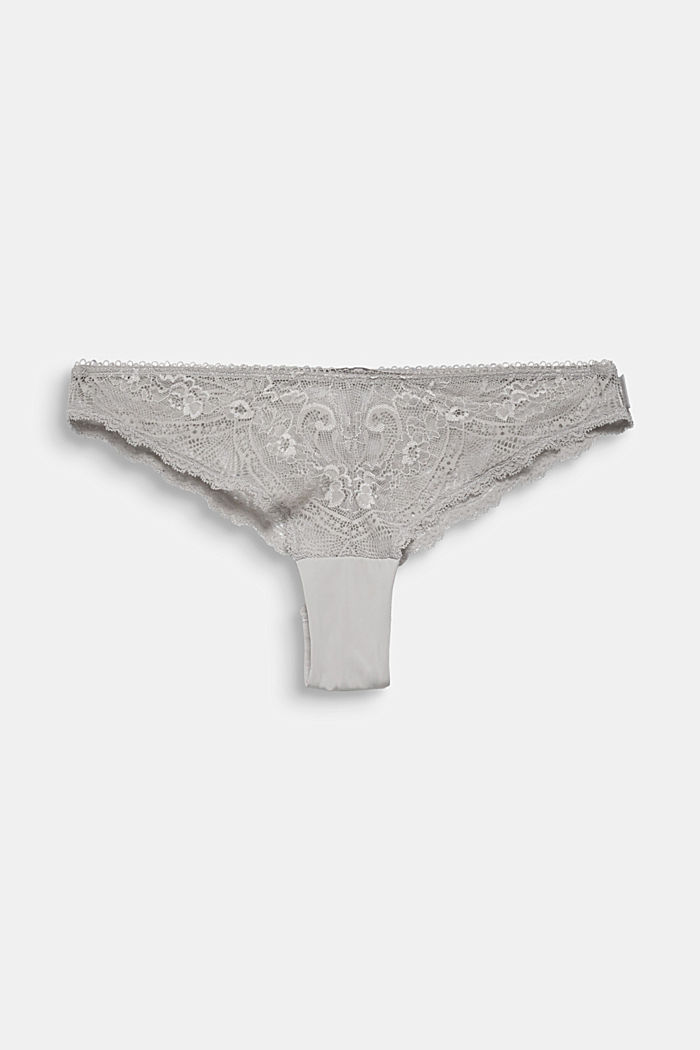 Brazilian hipster lace briefs, TAUPE, detail image number 0