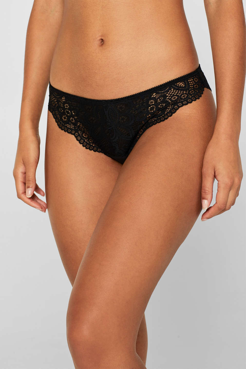 Hipster briefs in lace, BLACK, detail image number 0
