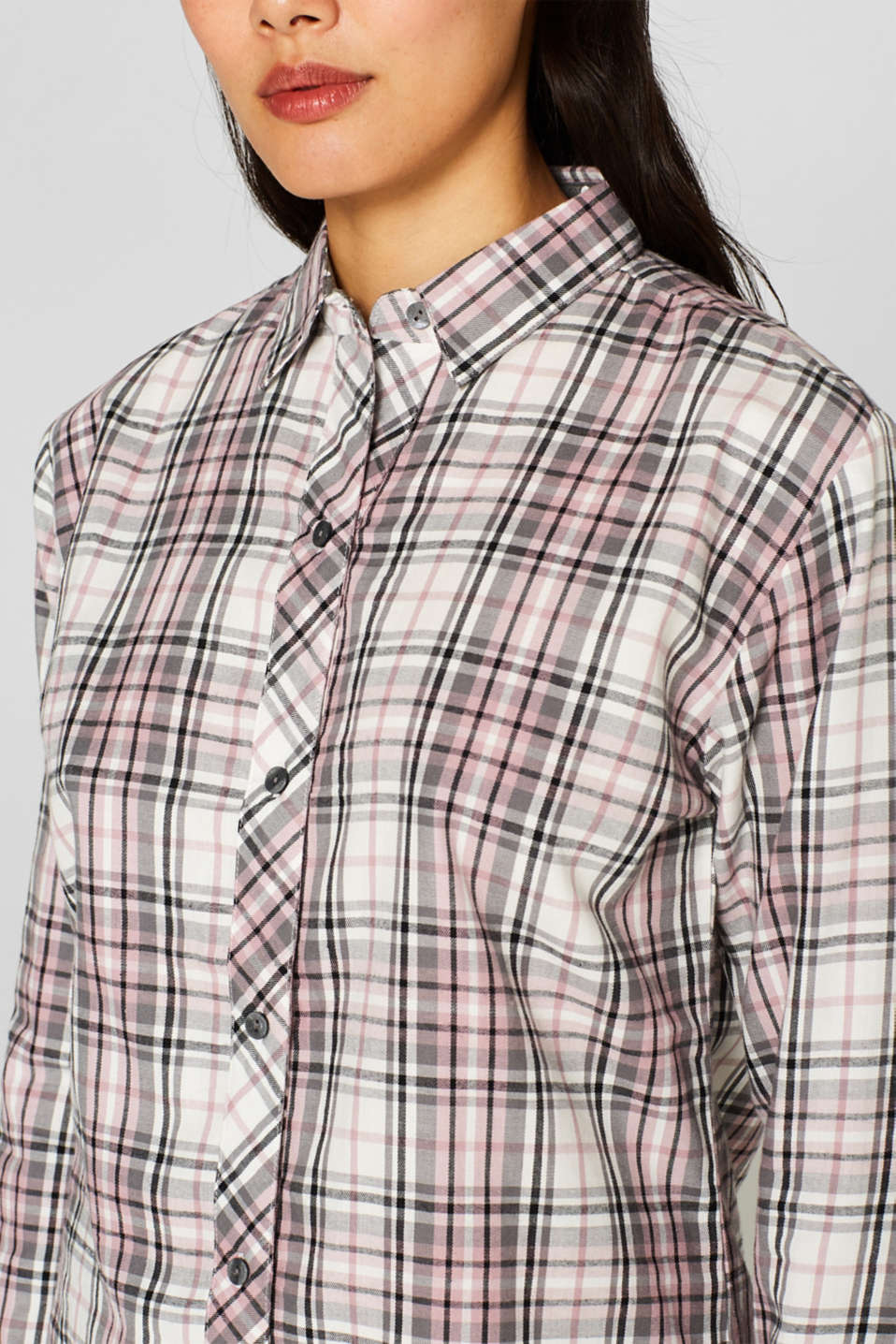 Flannel pyjamas, 100% cotton, OFF WHITE, detail image number 2