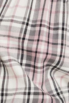 Baggy flannel trousers, 100% cotton