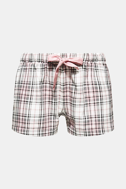 Flannel shorts, 100% cotton