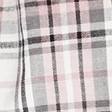 Flannel shorts, 100% cotton, OFF WHITE, swatch