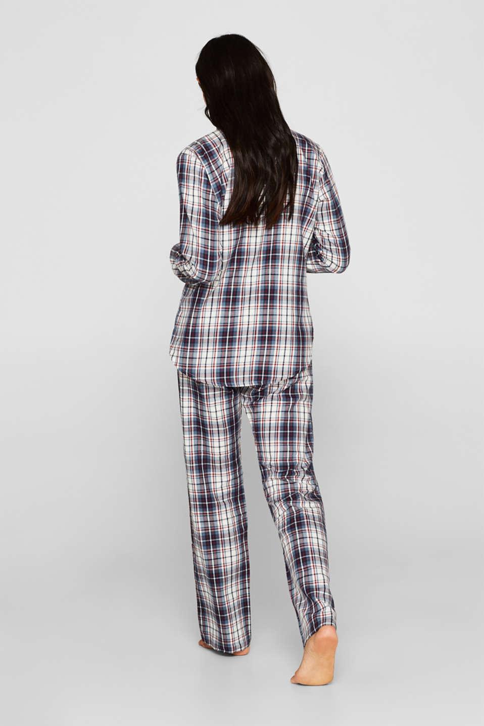 Flannel pyjamas, 100% cotton, NAVY, detail image number 1