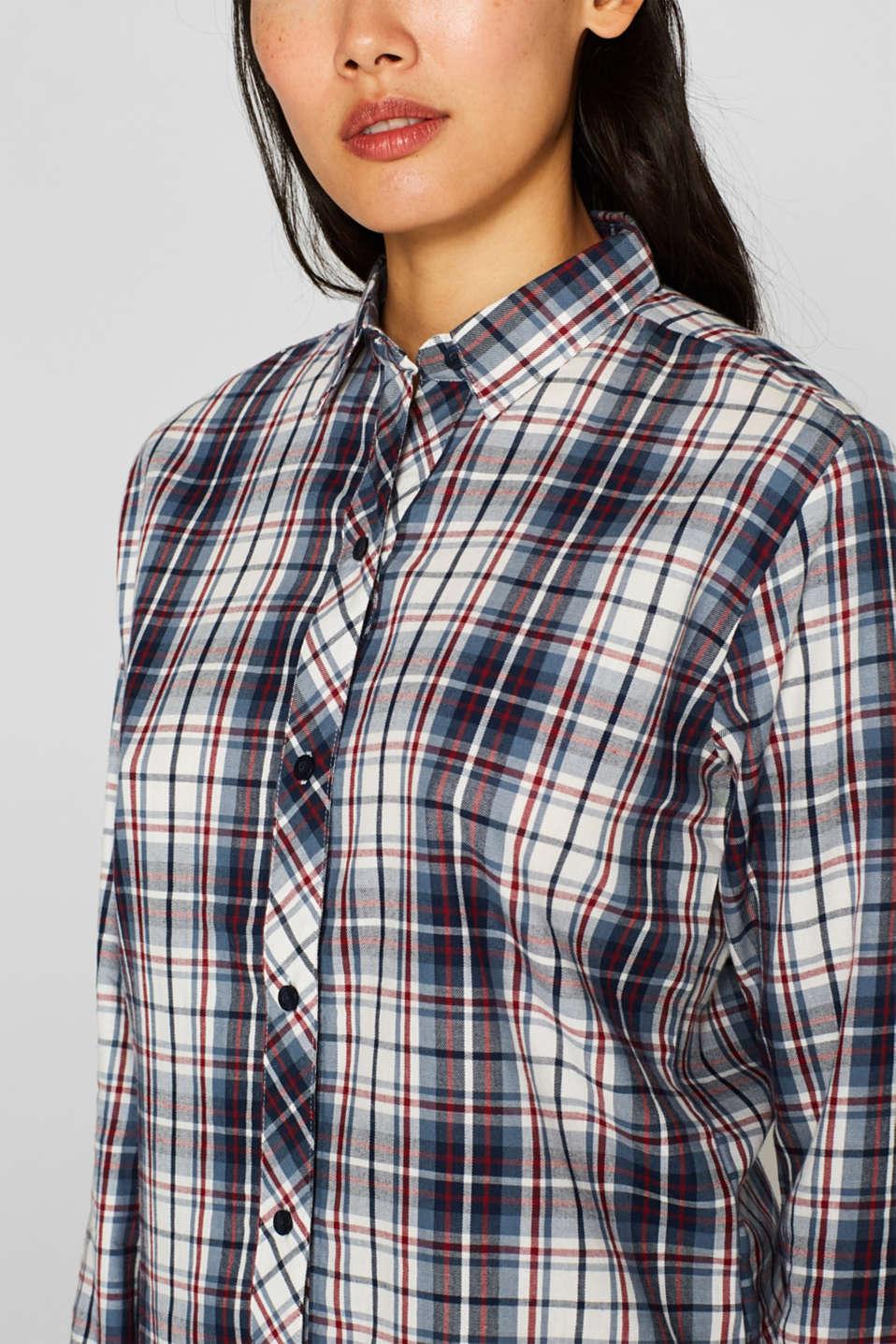 Flannel pyjamas, 100% cotton, NAVY, detail image number 2