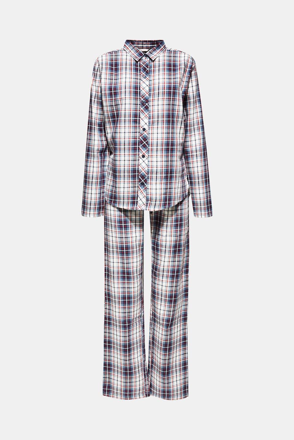 Flannel pyjamas, 100% cotton, NAVY, detail image number 4