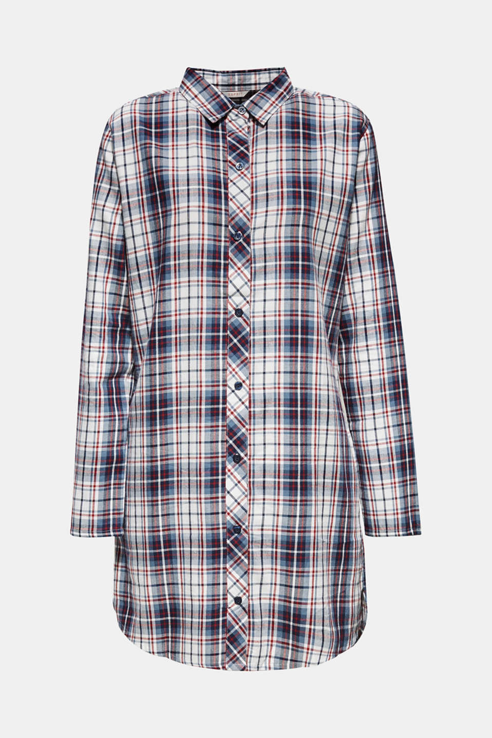 Flannel nightshirt made of 100% cotton, NAVY, detail image number 6