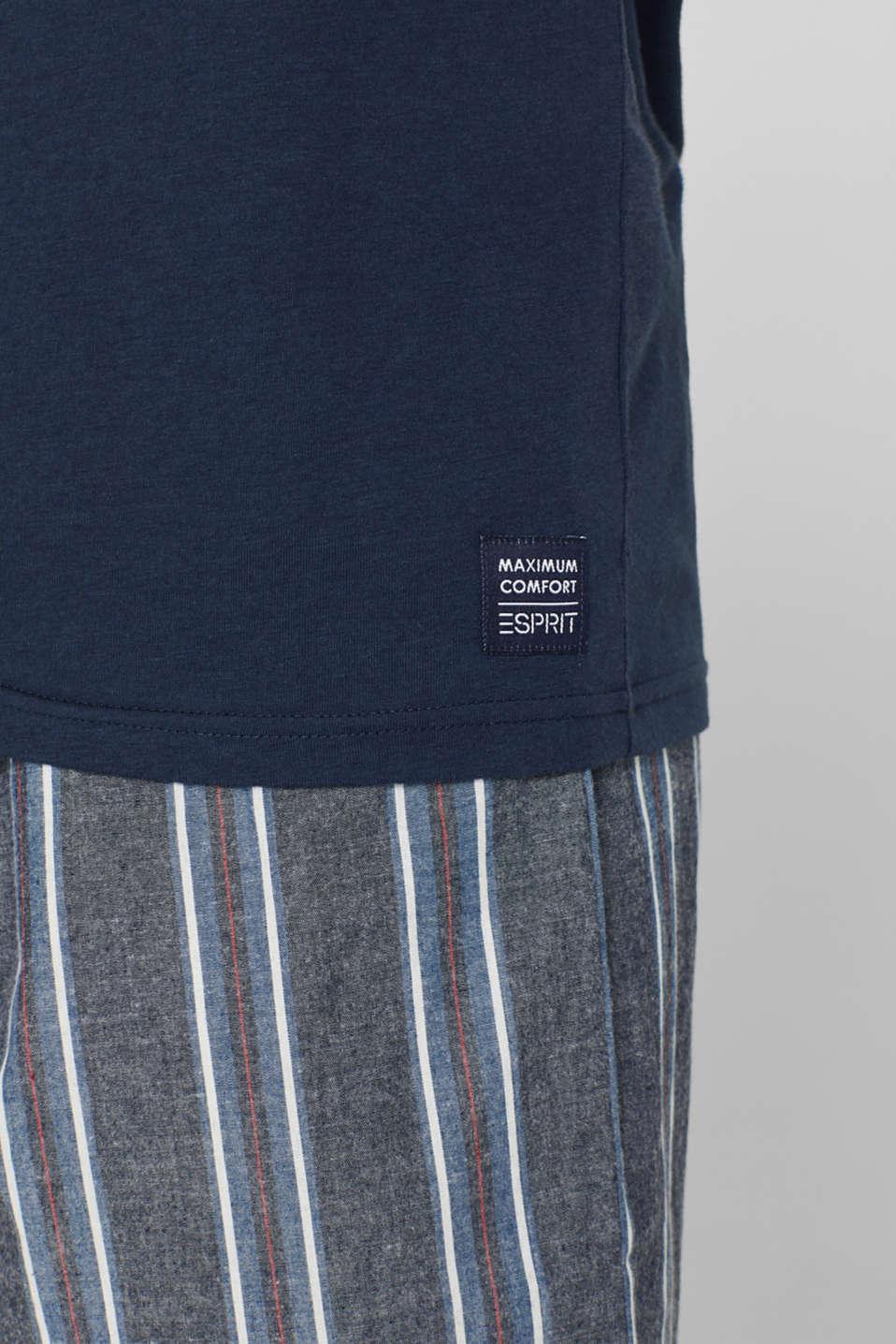 Jersey and fabric pyjamas, NAVY, detail image number 2