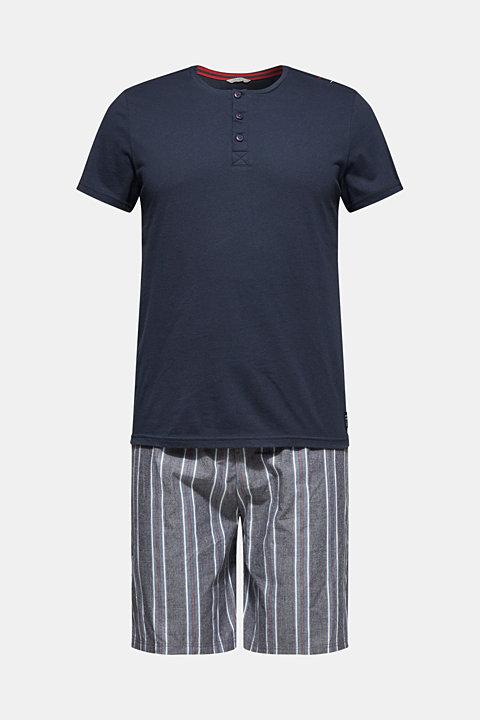 Jersey and fabric pyjamas