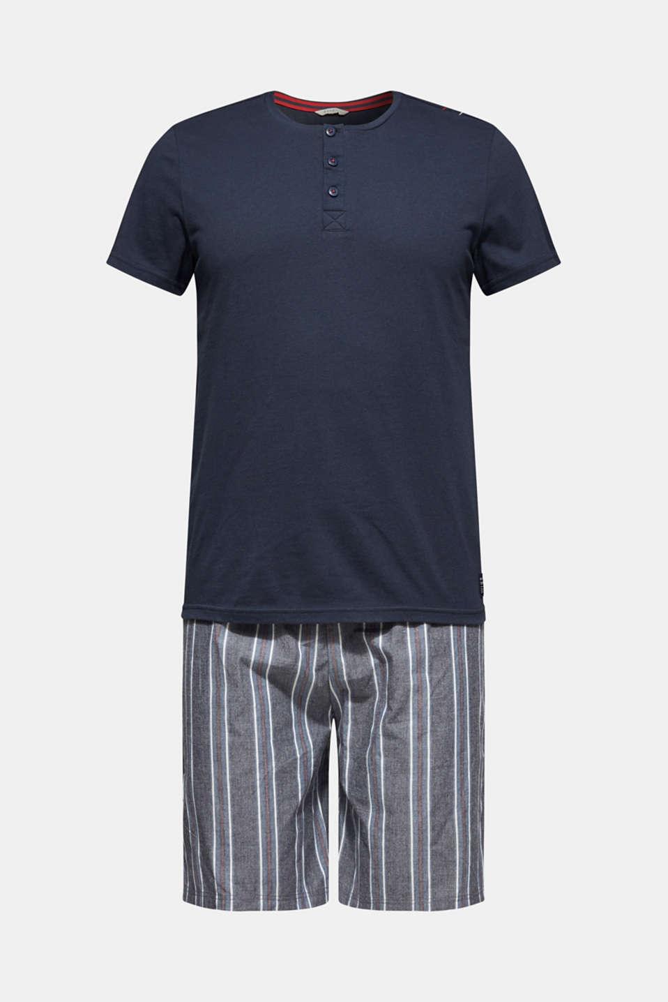 Jersey and fabric pyjamas, NAVY, detail image number 3