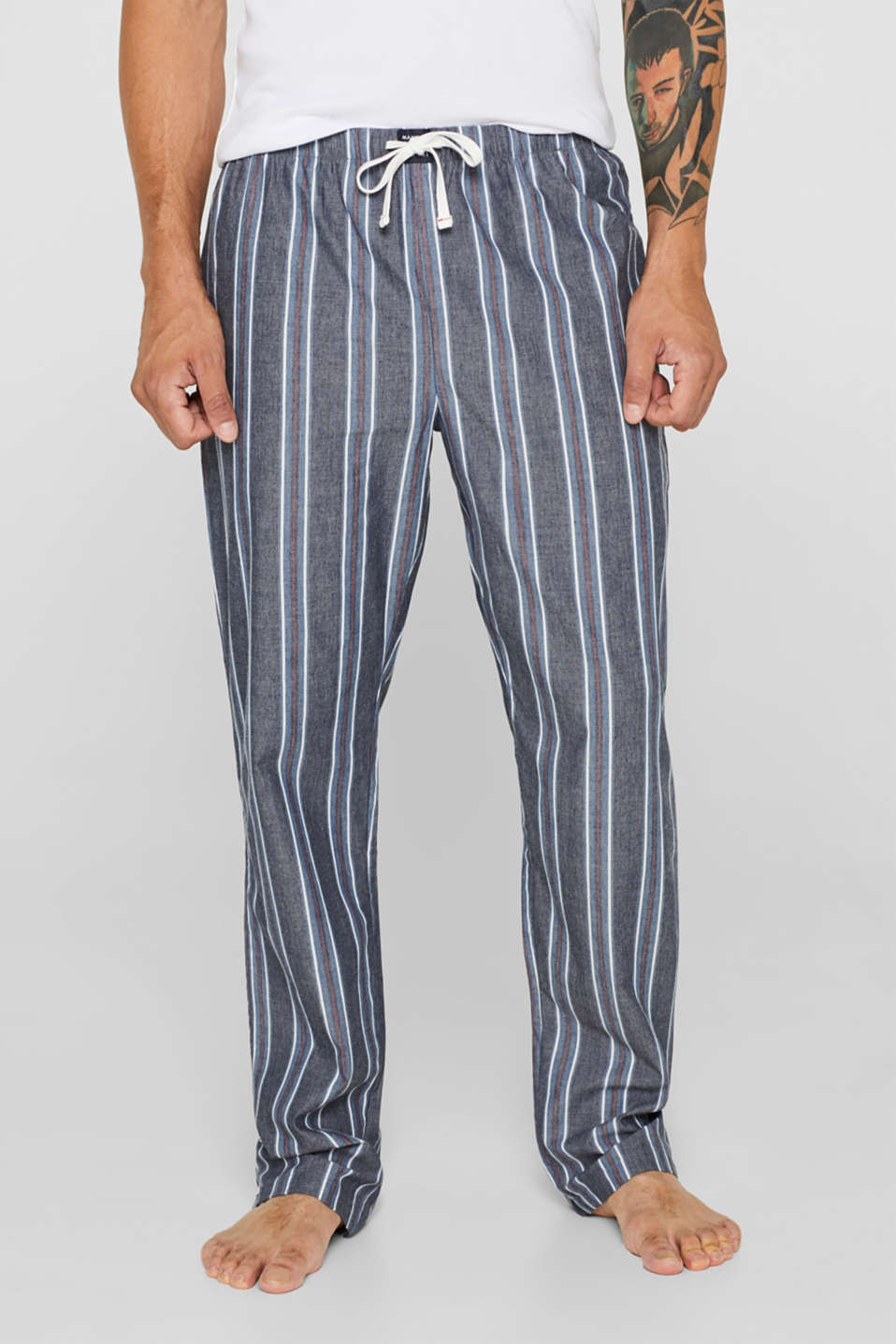 Pyjama bottoms with an elasticated waistband, 100% cotton