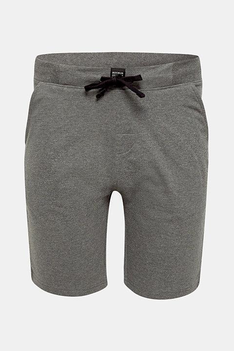 Pyjama shorts in melange sweatshirt fabric