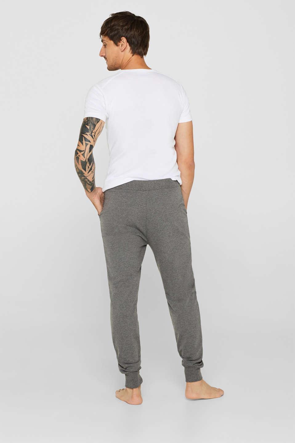Pyjama trousers made of melange sweatshirt fabric, MEDIUM GREY, detail image number 2
