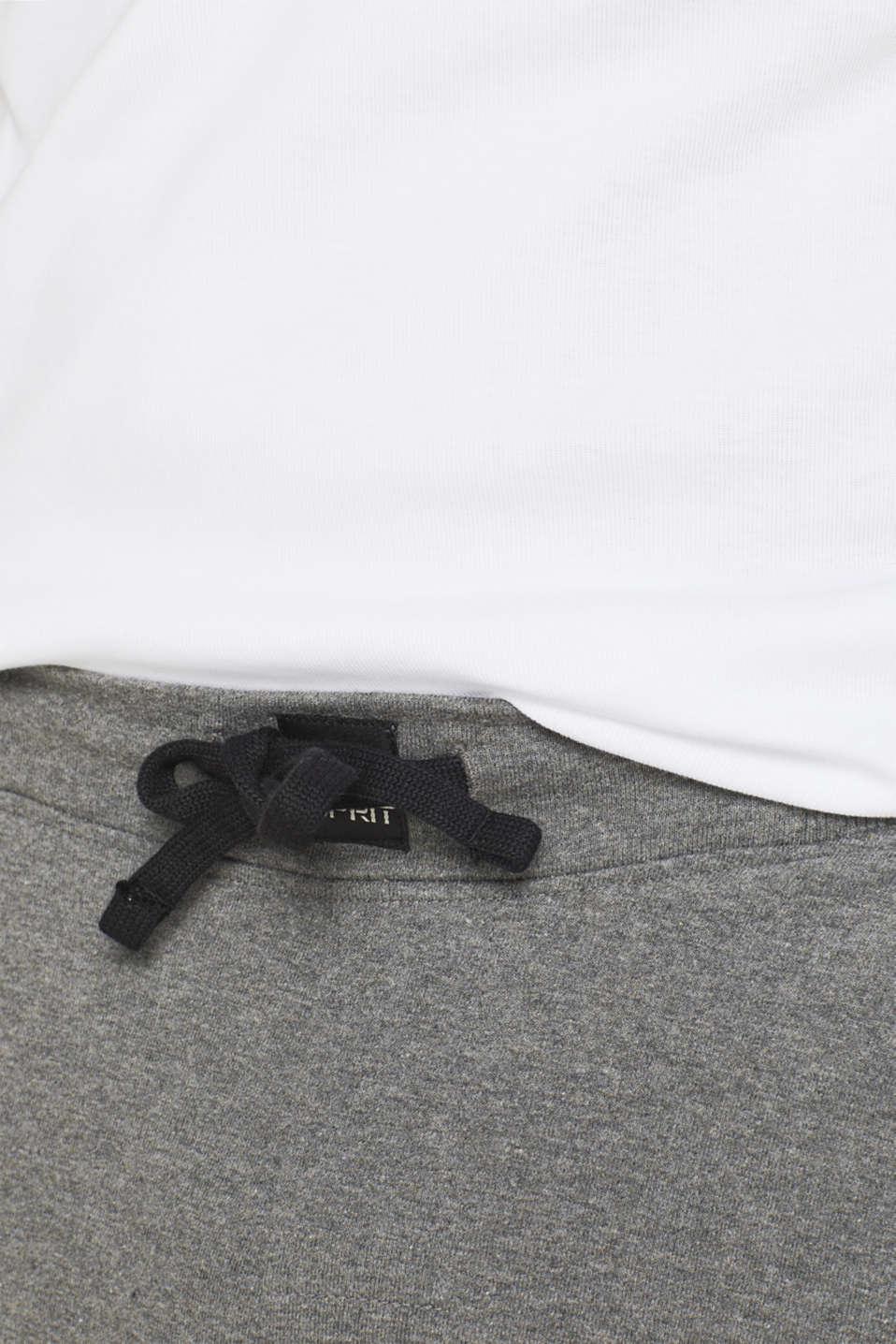 Pyjama trousers made of melange sweatshirt fabric, MEDIUM GREY, detail image number 3