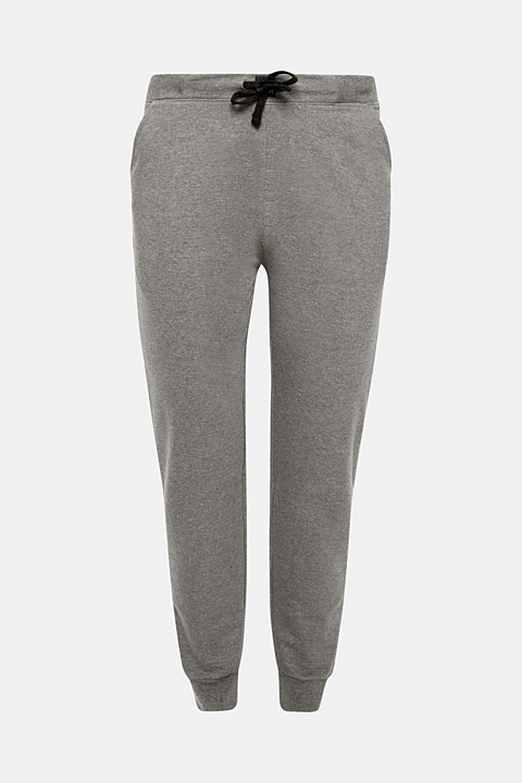 Pyjama trousers made of melange sweatshirt fabric