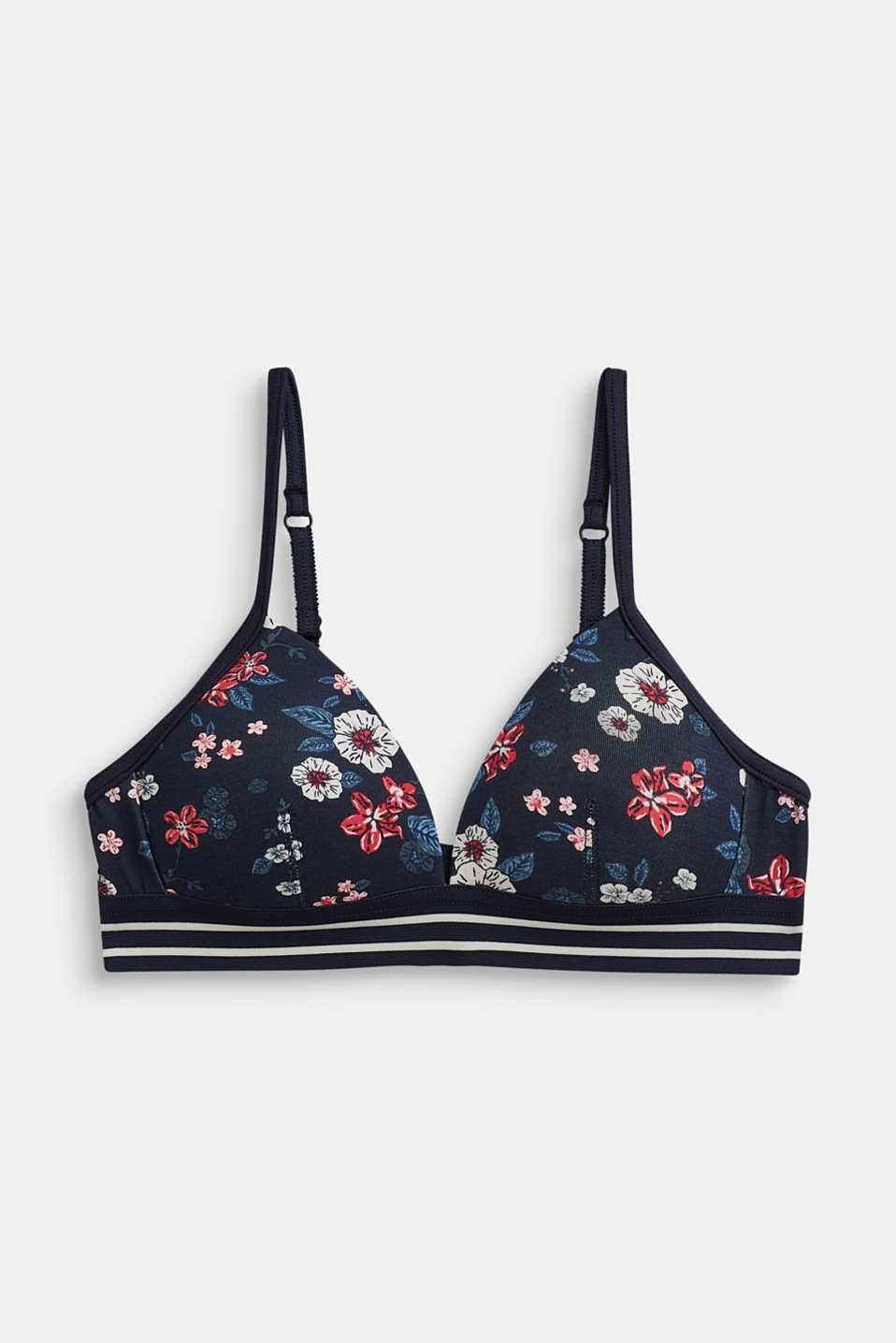 Esprit - Soft, padded bra with a floral print