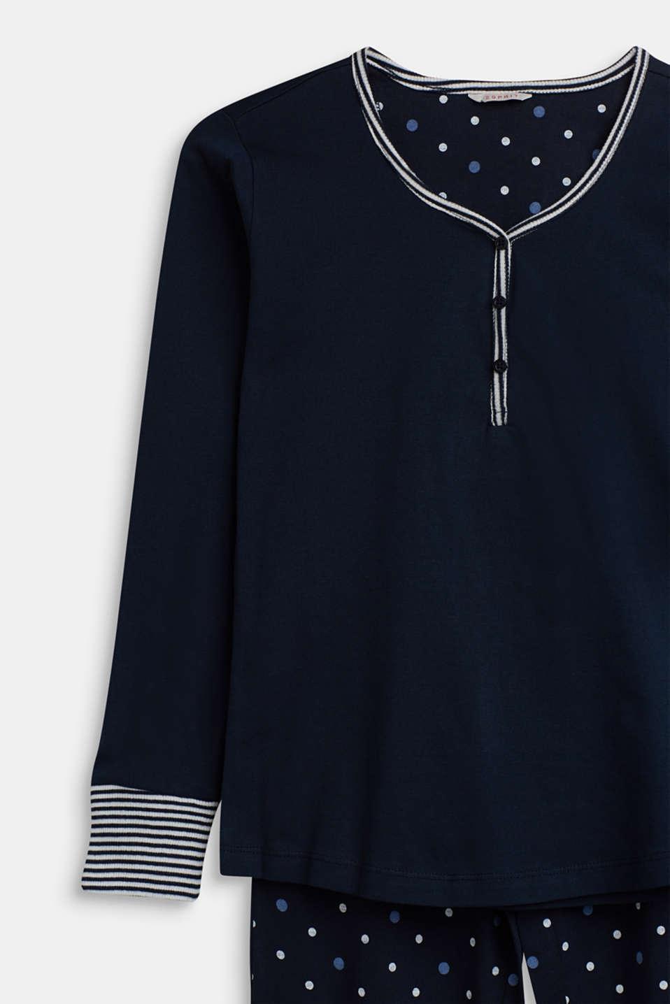 Pyjamas, NAVY, detail image number 2