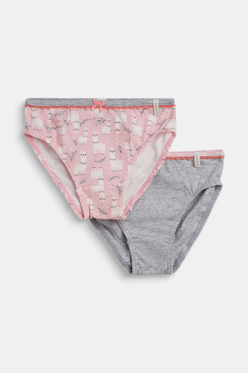 Double pack of hipster briefs with a llama print, PASTEL PINK, detail image number 0