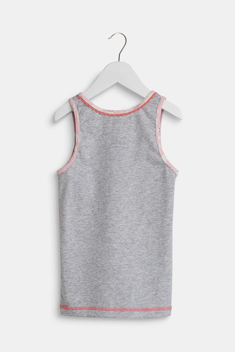 Jersey top with a llama print, LIGHT GREY, detail image number 1