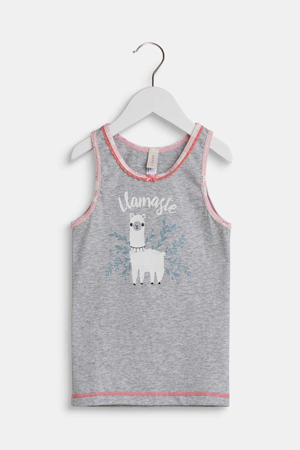 Jersey top with a llama print, LIGHT GREY, detail image number 0