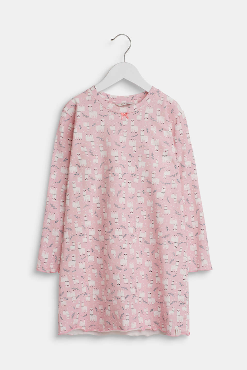Esprit - Llama motif nightshirt made of stretch cotton