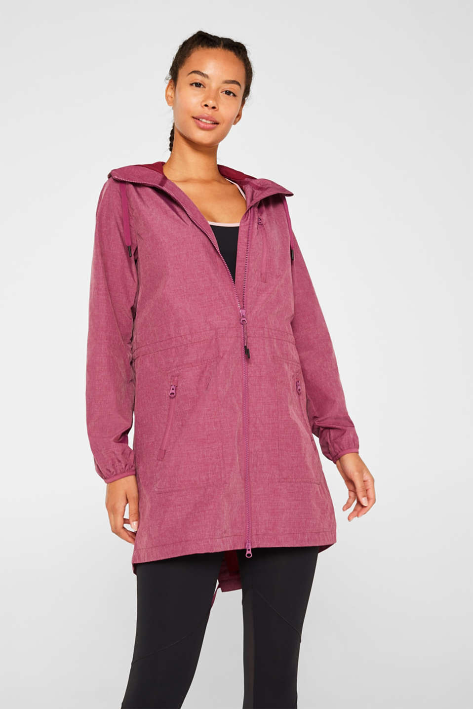 Jackets outdoor woven, DARK PINK 2, detail image number 0