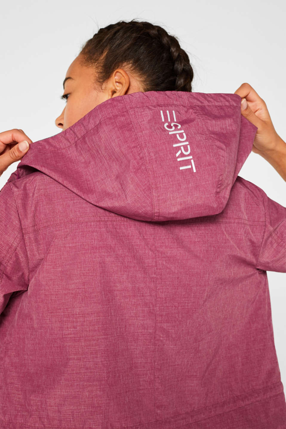 Jackets outdoor woven, DARK PINK 2, detail image number 2
