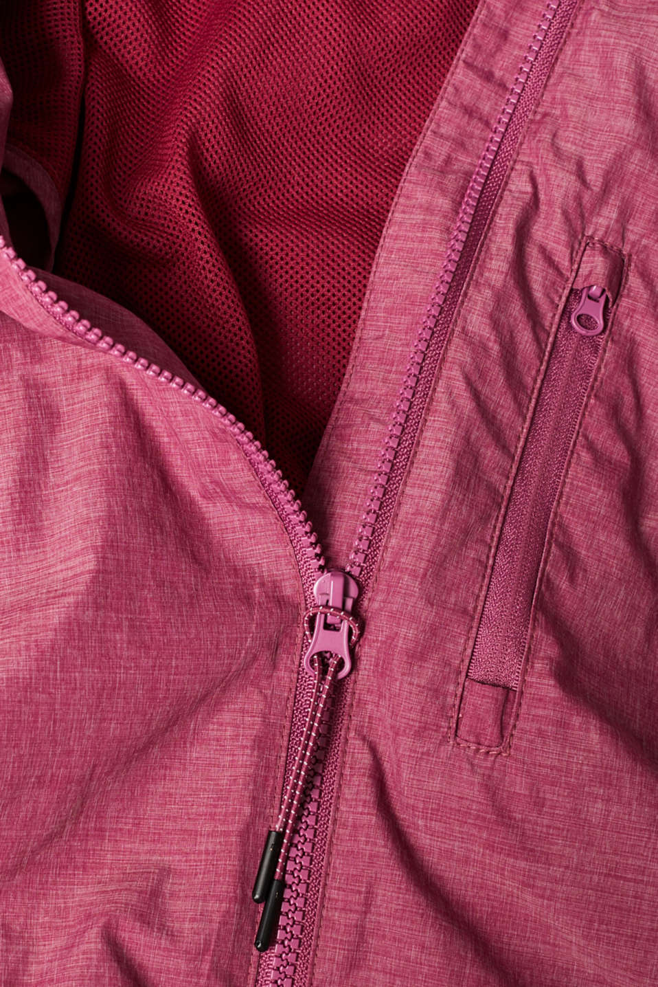 Jackets outdoor woven, DARK PINK 2, detail image number 4