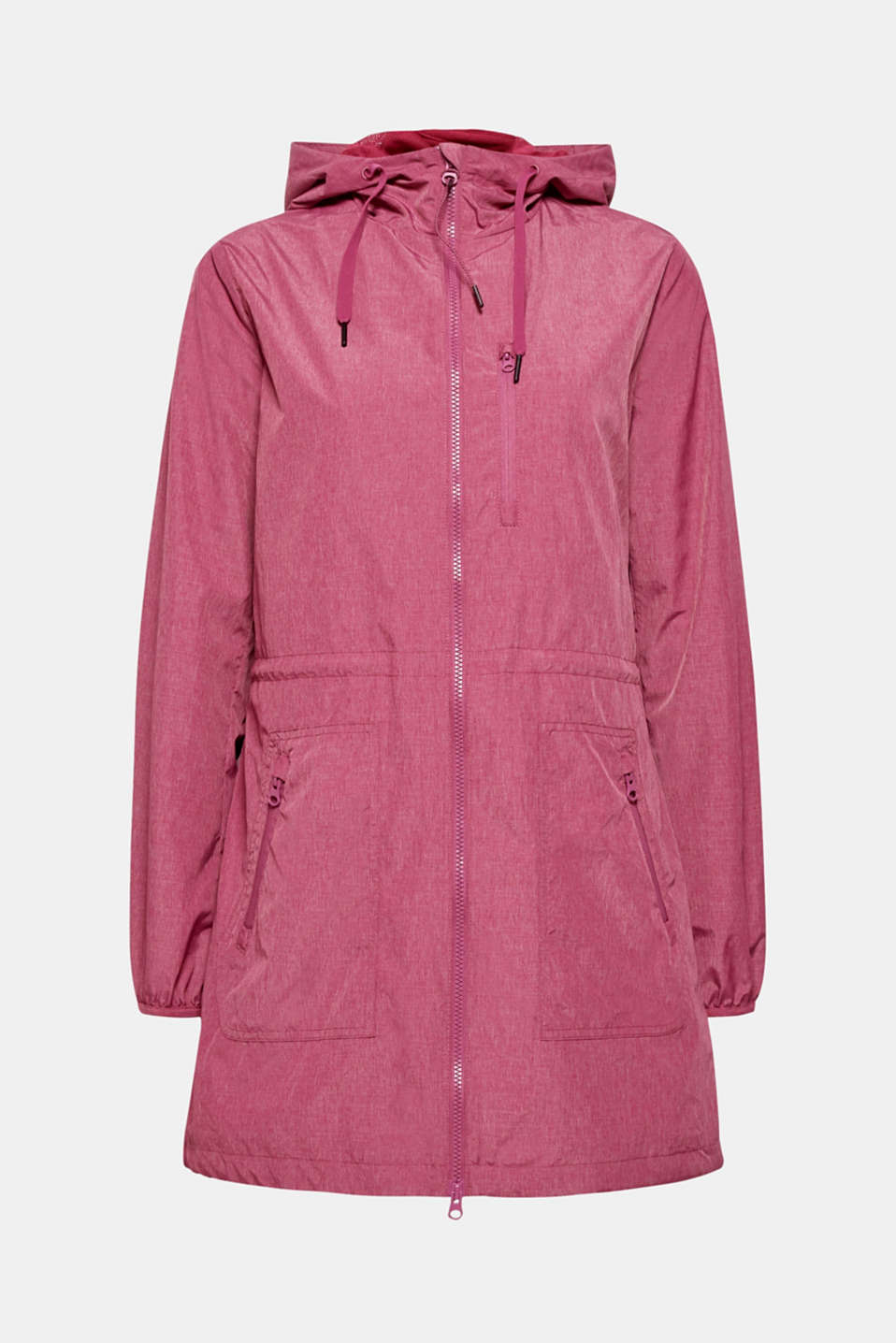 Jackets outdoor woven, DARK PINK 2, detail image number 8