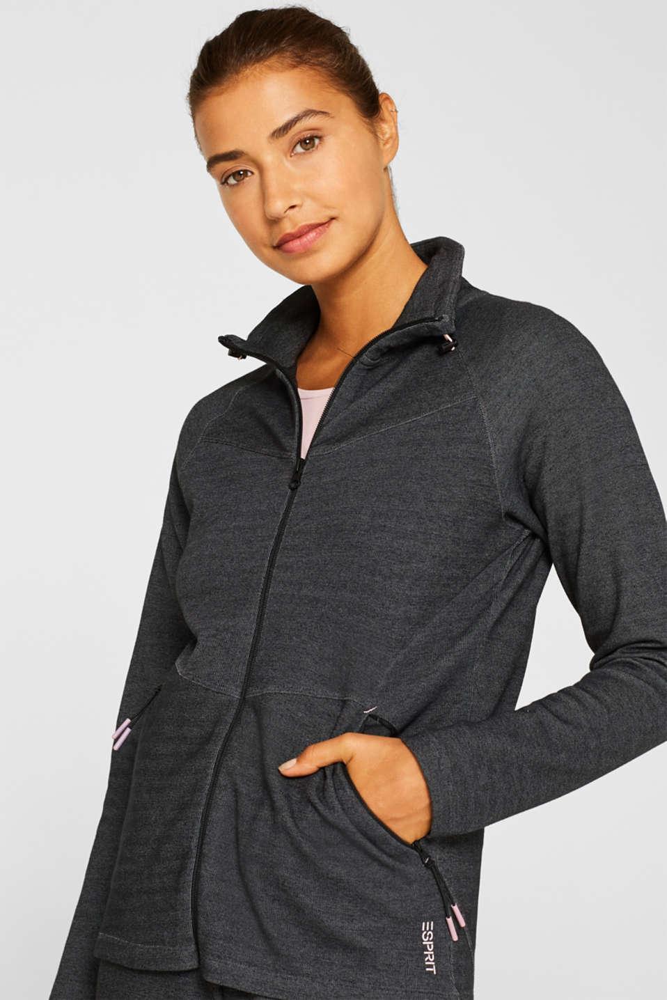 Sweatshirts cardigan, ANTHRACITE, detail image number 0