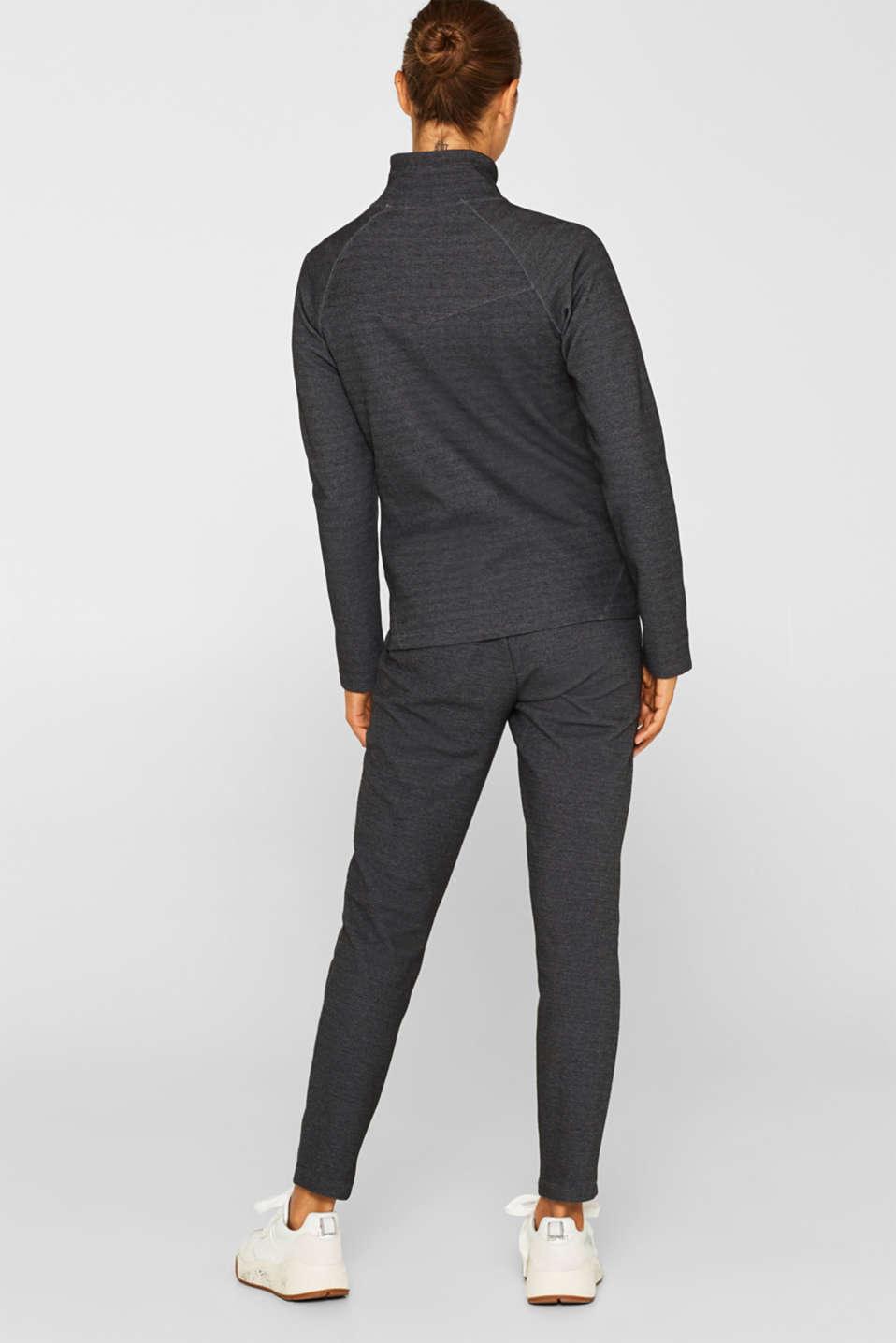 Sweatshirts cardigan, ANTHRACITE, detail image number 3