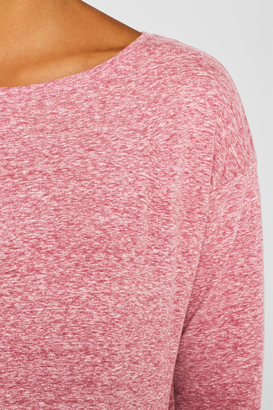 T-Shirts, DARK PINK 2, detail image number 4