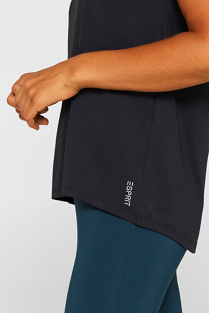 Active T-shirt with E-DRY, ANTHRACITE, detail image number 2