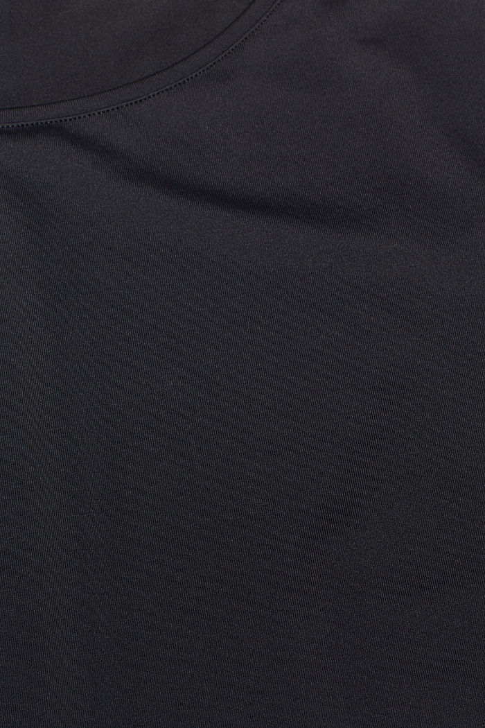 Active T-shirt with E-DRY, ANTHRACITE, detail image number 4