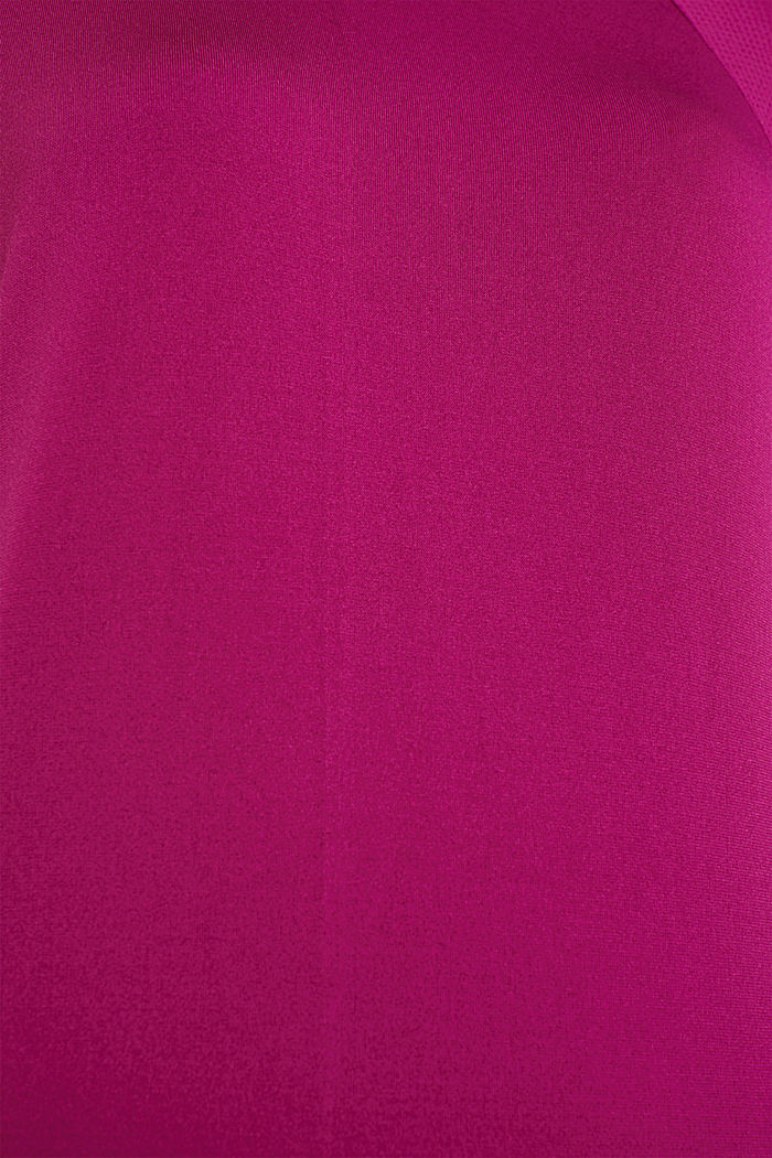 Batwing top with textured details, E-DRY, DARK PINK, detail image number 4