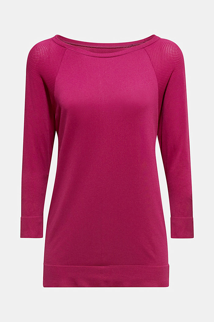 Batwing top with textured details, E-DRY, DARK PINK, detail image number 6