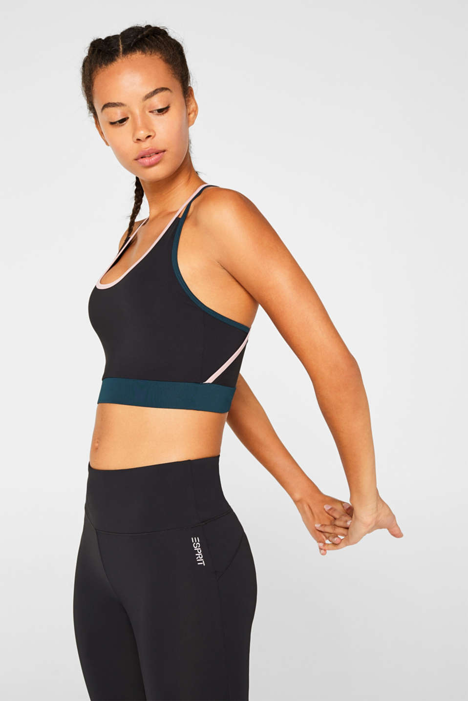 Esprit - Unpadded active crop top, E-DRY