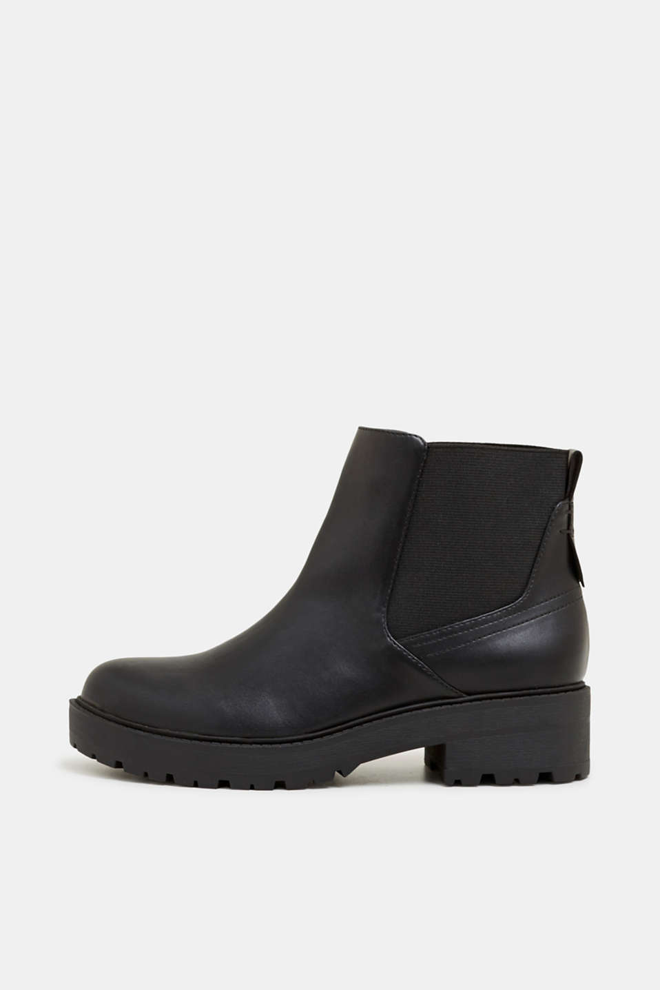 Chelsea boots with a tread sole, BLACK, detail image number 0